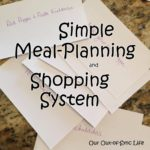 Simple Meal-Planning and Shopping System