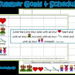 summer goals and schedule printable