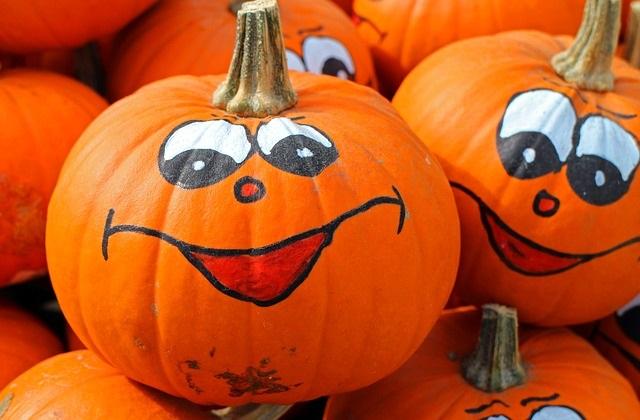 Happy Painted Pumpkins