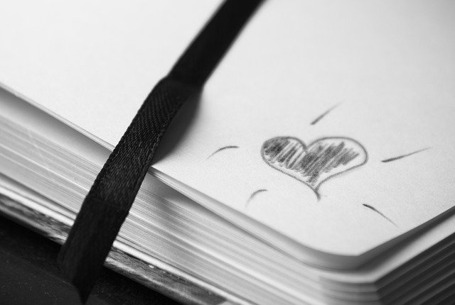 Journal with a heart