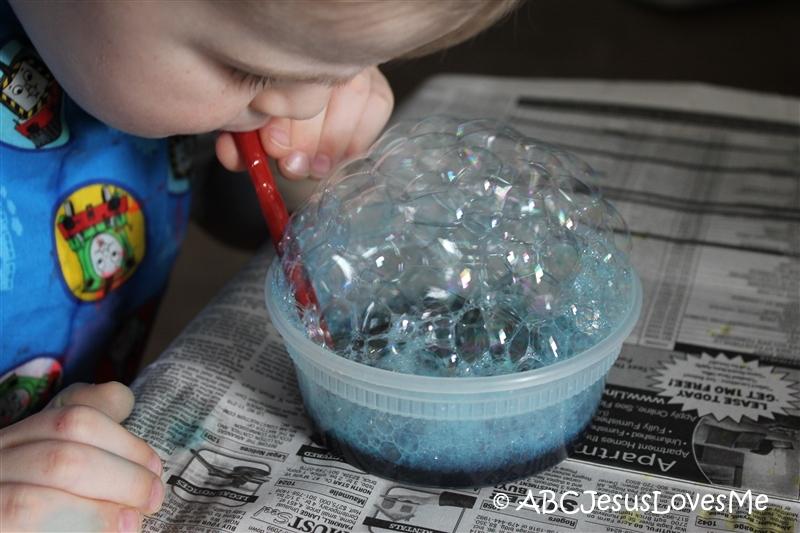 Bubbles building up.