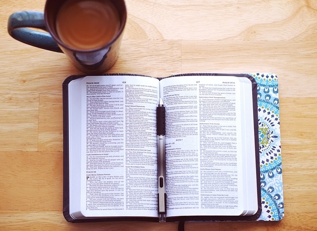 Bible with Cup of Coffee