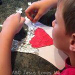 boy creating armor craft | ABCJesusLovesMe