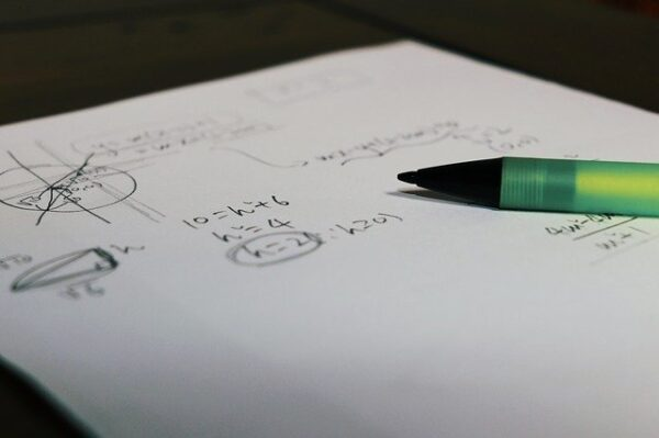 math equations on paper