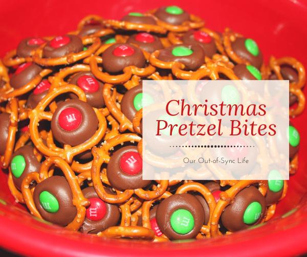 Christmas Pretzel Bites