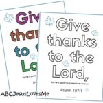 Psalm 107:1 Coloring Sheet