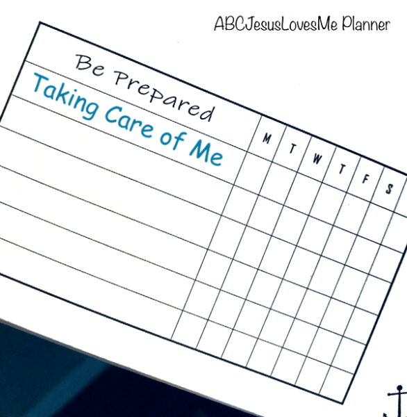 ABCJesusLoveMe Be Intentional Planner Tracking