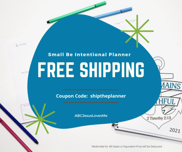 Be Intentional Planner Coupon Code