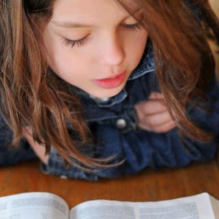 Little girl at church.
