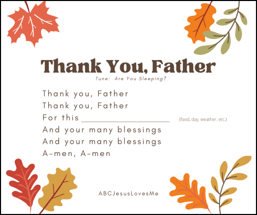 Thank You, Father ThanksgivingSong